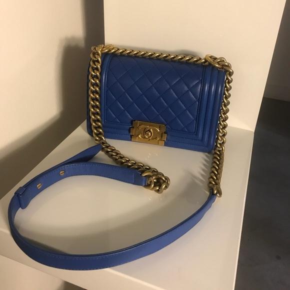 f13ac79decf5 CHANEL Bags | Sold Electric Blue Lambskin Small Le Boy | Poshmark